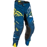 Fly Racing 2018 Evolution 2.0 Pant - Navy/Yellow/White