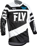 Fly Racing 2018 F - 16 Jersey - Black/White