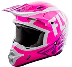 Fly Racing 2018 Kinetic Burnish Full Face Helmet - Neon Pink/White/Purple
