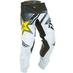 Fly Racing 2018 Kinetic Mesh Rockstar Pant - White/Black