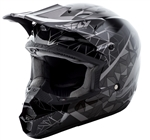 Fly Racing 2018 Kinetic Crux Full Face Helmet - Black/Silver