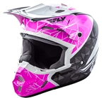 Fly Racing 2018 Kinetic Crux Full Face Helmet - Pink/Black/ White