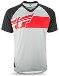 Fly Racing 2017 MTB Action Elite Jersey - Gray/Red/Black