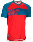 Fly Racing 2017 MTB Action Elite Jersey - Red/Dark Teal