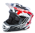 Fly Racing 2017 MTB Default Full Face Helmet - Red/White/Black