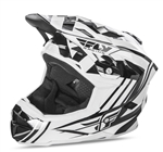 Fly Racing 2017 MTB Default Full Face Helmet - White/Black