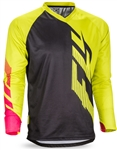 Fly Racing 2017 MTB Radium Jersey - Black/Lime/Pink