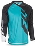 Fly Racing 2017 MTB Radium Jersey - Black/Teal/White