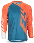 Fly Racing 2017 MTB Radium Jersey - Teal/Orange/White