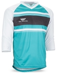 Fly Racing 2017 MTB Ripa Jersey - Teal/White/Heather