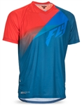 Fly Racing 2017 MTB Super D Jersey - Dark Teal/Cyan/Red