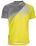 Fly Racing 2017 MTB Super D Jersey - Lime/Grey