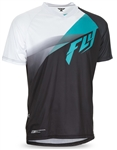 Fly Racing 2017 MTB Super D Jersey - Black/Teal/White