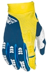 Fly Racing 2017 MTB Youth Evolution 2.0 Gloves - Navy/Yellow/White
