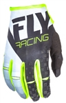 Fly Racing 2017 MTB Youth Kinetic Gloves - Black/White/Hi-Vis