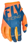 Fly Racing 2017 MTB Youth Kinetic Gloves - Orange/Navy