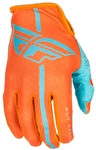 Fly Racing 2017 MTB Youth Lite Gloves - Orange/Blue