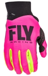 Fly Racing 2017 MTB Youth Pro Lite Gloves - Neon Pink/Hi-Vis