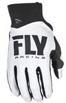 Fly Racing 2017 MTB Youth Pro Lite Gloves - White/Black