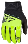 Fly Racing 2017 Youth F-16 Gloves - Black/Hi-Vis