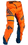Fly Racing 2017 Youth MTB Kinetic Pant - Orange/Navy