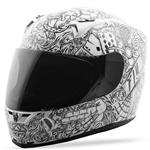 Fly Racing 2018 Revolt FS Ink 'N Needle Helmet - White/Black
