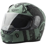 Fly Racing 2018 Revolt FS Liberator Helmet - Matte Black/Green