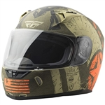 Fly Racing 2018 Revolt FS Liberator Helmet - Matte Brown/Orange