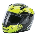 Fly Racing 2018 Revolt FS Patriot Helmet - Hi-Viz/Black