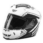 Fly Racing 2018 Revolt FS Patriot Helmet - Matte White/Black