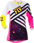Fly Racing 2018 Womens Kinetic Jersey - Neon Pink/Hi-Vis