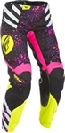 Fly Racing 2018 Womens Kinetic Pant - Neon Pink/Hi-Vis