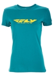 Fly Racing 2018 Womens Corporate Tee - Teal