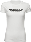 Fly Racing 2018 Womens Corporate Tee - White