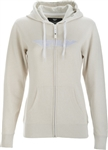 Fly Racing 2018 Womens Corp Zip Up Hoody - Ivory