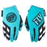 Fly Racing 2018 Womens Kinetic Gloves - Blue/Teal
