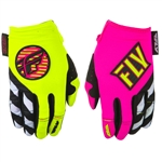 Fly Racing 2018 Womens Kinetic Gloves - Neon Pink/Hi-Vis