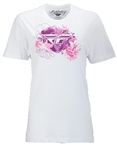 Fly Racing 2018 Womens Watercolor Tee - White