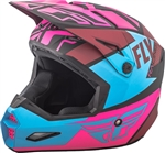 Fly Racing 2018 Youth Elite Guild Full Face Helmet - Matte Neon Pink/Blue/Black