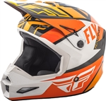 Fly Racing 2018 Youth Elite Guild Full Face Helmet - Orange/White/Black
