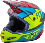 Fly Racing 2018 Youth Elite Guild Full Face Helmet - Red/Blue/Hi-Vis