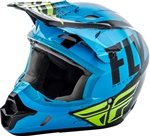 Fly Racing 2018 Youth Kinetic Burnish Full Face Helmet - Blue/Black/Hi-Vis