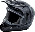 Fly Racing 2018 Youth Kinetic Burnish Full Face Helmet - Grey/Black