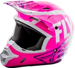 Fly Racing 2018 Youth Kinetic Burnish Full Face Helmet - Neon Pink/White/Purple