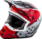 Fly Racing 2018 Youth Kinetic Crux Full Face Helmet - Red/Black/White