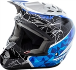 Fly Racing 2018 Youth Kinetic Crux Full Face Helmet - White/Black/Blue