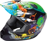 Fly Racing 2018 Youth Kinetic Invazion Full Face Helmet - Green