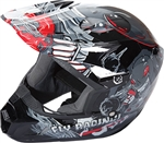 Fly Racing 2018 Youth Kinetic Invazion Full Face Helmet - Grey