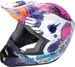 Fly Racing 2018 Youth Kinetic Invazion Full Face Helmet - Pink