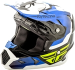 Fly Racing 2018 Youth Toxin Original Full Face Helmet - Blue/Black/White